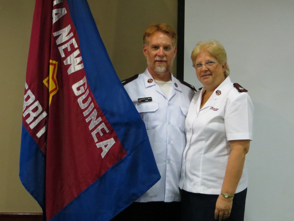 Majors Curtiss and Sandy Hartley are serving at THQ in Papua New Guinea