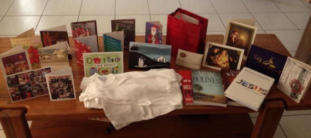 Christmas gifts and cards