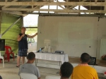 Teaching at Men's Camp, South Central Division at Lea Lea