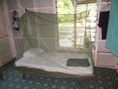 My bed, in the front bedroom of the officers quaterrs in Meii.