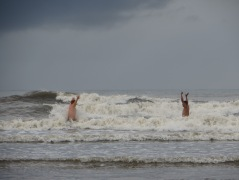 Okay, so the waves looked much larger when we were out in them!