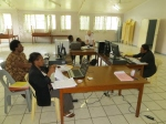 Sandy had her own little computer lab to work with the many bookkeepers in Kainantu.