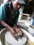 Hawai makes it look easy to form a lump of clay into a beautiful bowl!