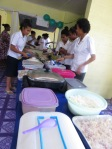 Some of the Koki girls help prepare the lunch.
